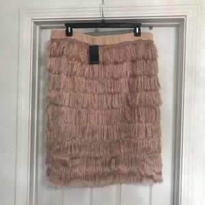 NWT Eloquii fringe pencil skirt